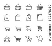 set of shopping cart icons in... | Shutterstock .eps vector #572378350