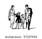 Retro Family   Clip Art