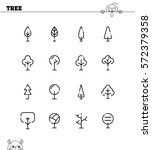 tree flat icon set. collection... | Shutterstock .eps vector #572379358