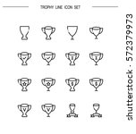trophy flat icon set.... | Shutterstock .eps vector #572379973