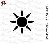 web icon. sun