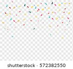 isolated confetti on a...   Shutterstock .eps vector #572382550