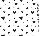 gray heart seamless pattern.... | Shutterstock .eps vector #572382580