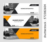 orange horizontal business... | Shutterstock .eps vector #572382604