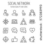 set of social network icons in... | Shutterstock .eps vector #572383993