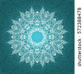 Mandala Card In Turquoise ...