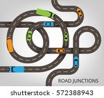 roads junctions concept. vector ... | Shutterstock .eps vector #572388943
