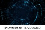 abstract circular particle... | Shutterstock . vector #572390380