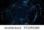 abstract circular particle... | Shutterstock . vector #572390380