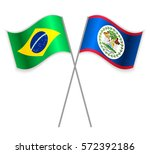 brazilian and belizean crossed... | Shutterstock .eps vector #572392186