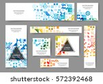 set of web banner templates for ... | Shutterstock .eps vector #572392468