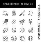 set of sport equipment icons in ...   Shutterstock .eps vector #572398816