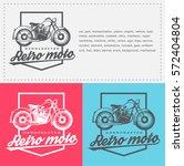 moto classic logo for shopping  ... | Shutterstock .eps vector #572404804