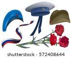 defender of fatherland day. set ... | Shutterstock .eps vector #572408644