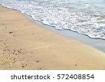 Sea Beach Sand Background.
