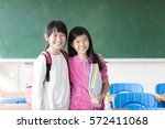 Two Teenage Girls Student In...