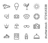 set of summer icons in modern... | Shutterstock .eps vector #572414338