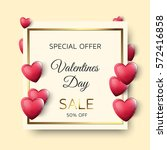 valentines day sale image with... | Shutterstock .eps vector #572416858