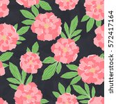 seamless pattern with hand... | Shutterstock .eps vector #572417164
