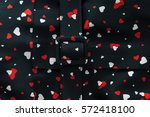 fabric with bright print | Shutterstock . vector #572418100