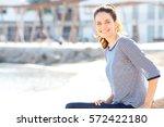 portrait of beautiful healthy...   Shutterstock . vector #572422180