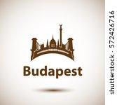 vector city skyline with... | Shutterstock .eps vector #572426716