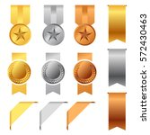 gold  silver and bronze award... | Shutterstock .eps vector #572430463