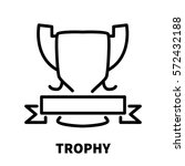 trophy icon or logo in modern...