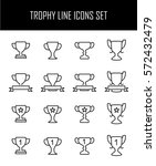 set of trophy icons in modern... | Shutterstock .eps vector #572432479