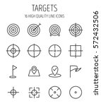 set of target icons in modern... | Shutterstock .eps vector #572432506
