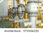 manual valve for operating gas... | Shutterstock . vector #572436220