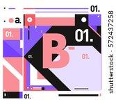 vector brochure design with... | Shutterstock .eps vector #572437258
