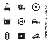 set of 9 editable vehicle icons....