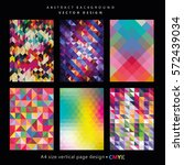 abstract geometric backgrounds... | Shutterstock .eps vector #572439034