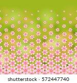 floral pattern  horizontal ... | Shutterstock .eps vector #572447740