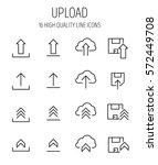 set of upload icons in modern... | Shutterstock .eps vector #572449708
