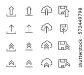 set of upload icons in modern... | Shutterstock .eps vector #572449798
