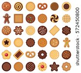 cookie and biscuit icon... | Shutterstock .eps vector #572450800