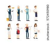 flat illustration femalr group...   Shutterstock .eps vector #572450980
