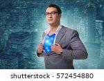 superhero preparing to save the ... | Shutterstock . vector #572454880