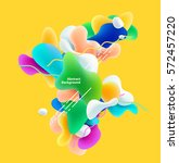 plastic colorful shapes.... | Shutterstock .eps vector #572457220