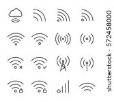 set of wireless icons in modern ... | Shutterstock .eps vector #572458000