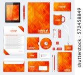 orange set of vector corporate... | Shutterstock .eps vector #572458849