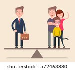 businessman balance of work and ... | Shutterstock .eps vector #572463880
