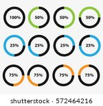 circle percent | Shutterstock .eps vector #572464216