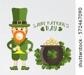 magical irish character   the... | Shutterstock .eps vector #572467090