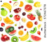 fruits seamless pattern.... | Shutterstock . vector #572467378