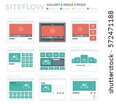 website wireframe layouts ui... | Shutterstock .eps vector #572471188