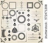vintage big set of classic... | Shutterstock .eps vector #572471308