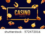 777 slots 3d element isolated... | Shutterstock .eps vector #572472016